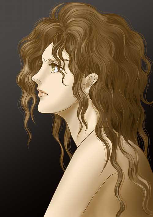 アルテミス女性頭部習作180113
