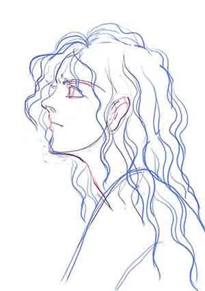 Artemis王女頭部習作